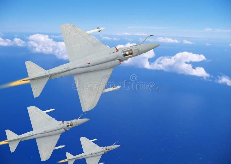 Aviões do lutador foto de stock royalty free