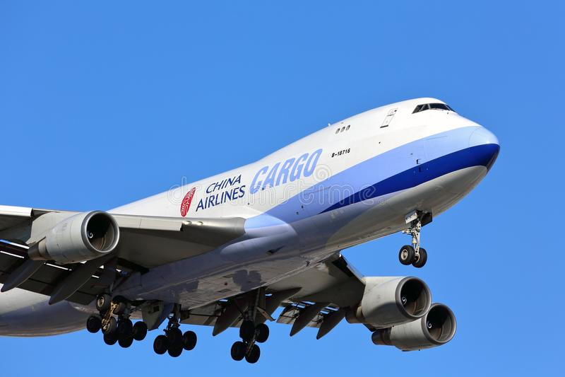 Aviões do transporte de carga de China Airlines fotos de stock royalty free