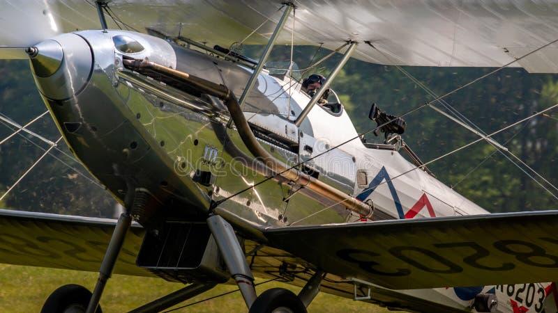 Aviões 1937 do vintage de Demon do vendedor ambulante fotografia de stock
