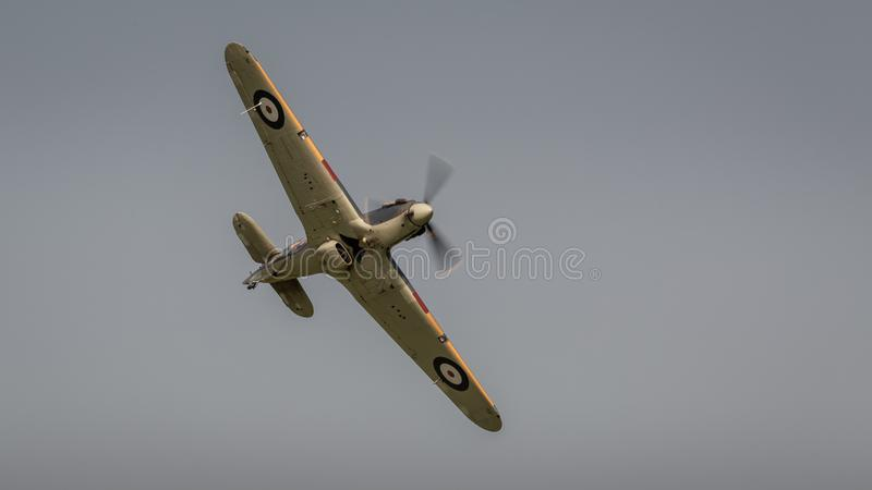 Aviões do vintage de Hurricane do vendedor ambulante fotos de stock royalty free