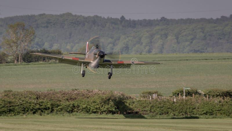 Aviões do vintage de Hurricane do vendedor ambulante fotografia de stock royalty free