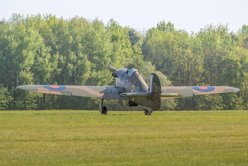 Aviões do vintage de Hurricane do vendedor ambulante imagem de stock royalty free
