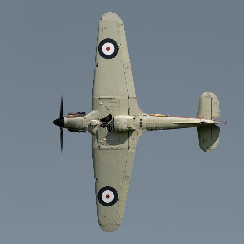 Aviões do vintage de Hurricane do vendedor ambulante imagens de stock royalty free