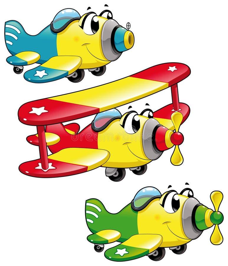 Aviões dos desenhos animados ilustração royalty free