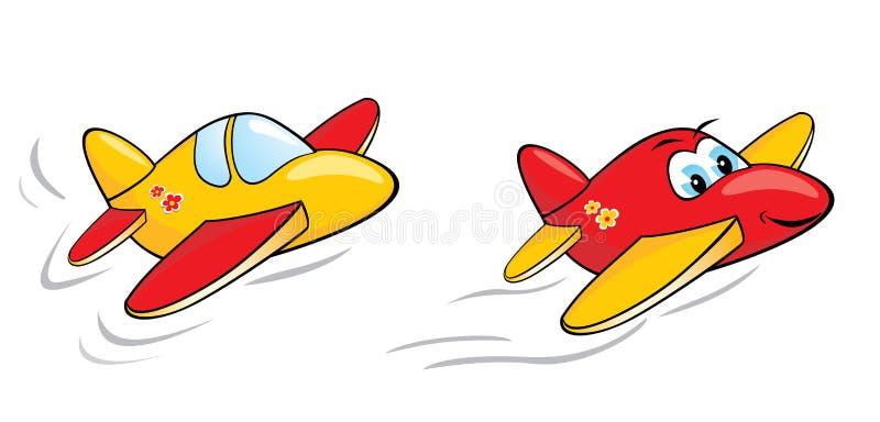 Aviões dos desenhos animados ilustração stock