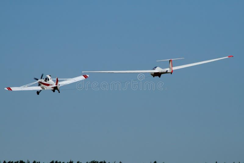 Aviões e planador foto de stock royalty free