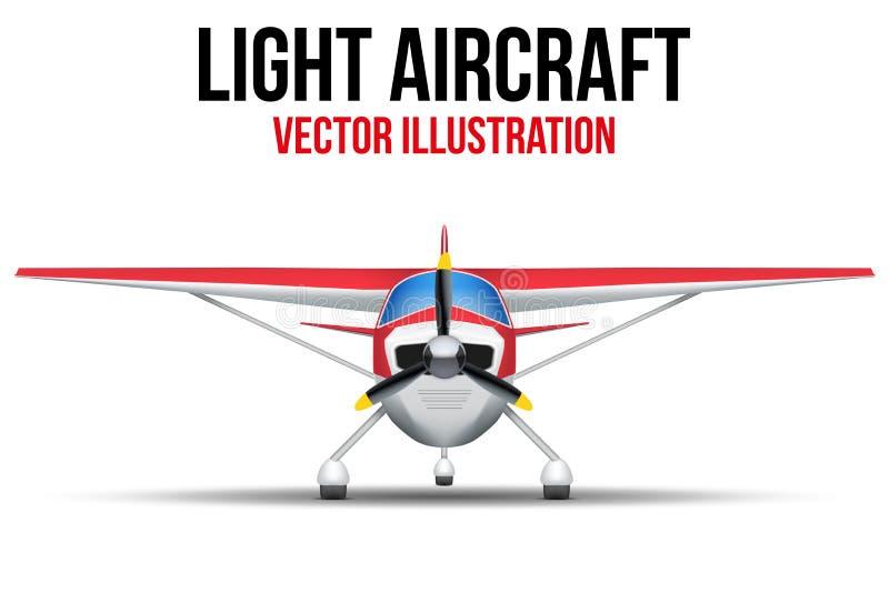 Aviões leves civis ilustração do vetor
