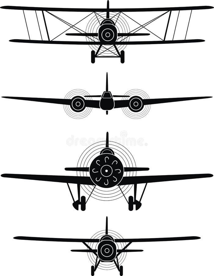 Aviões militares ilustração do vetor