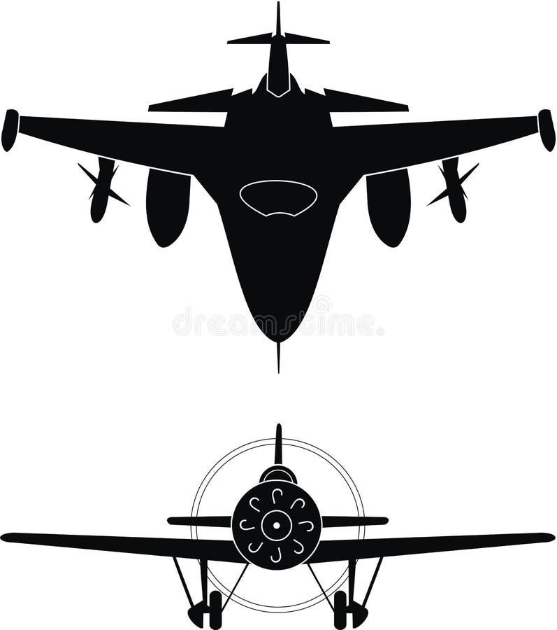 Aviões militares ilustração royalty free
