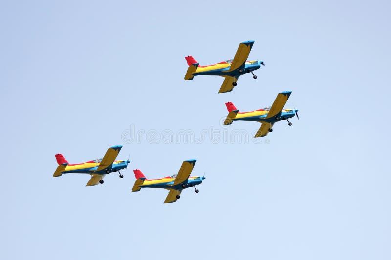 Aviões na mostra de ar fotos de stock