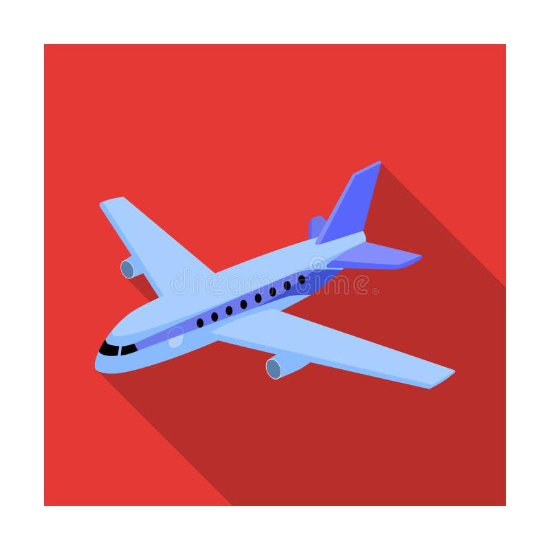 Aviões para o transporte de um grande número povos O transporte aéreo o mais seguro Único ícone do transporte no estilo liso ilustração do vetor