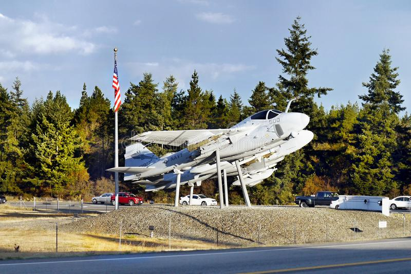 Aviões, porto do carvalho, ilha de Whidbey, Washington fotografia de stock royalty free