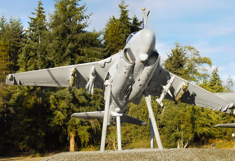 Aviões, porto do carvalho, ilha de Whidbey, Washington fotos de stock royalty free
