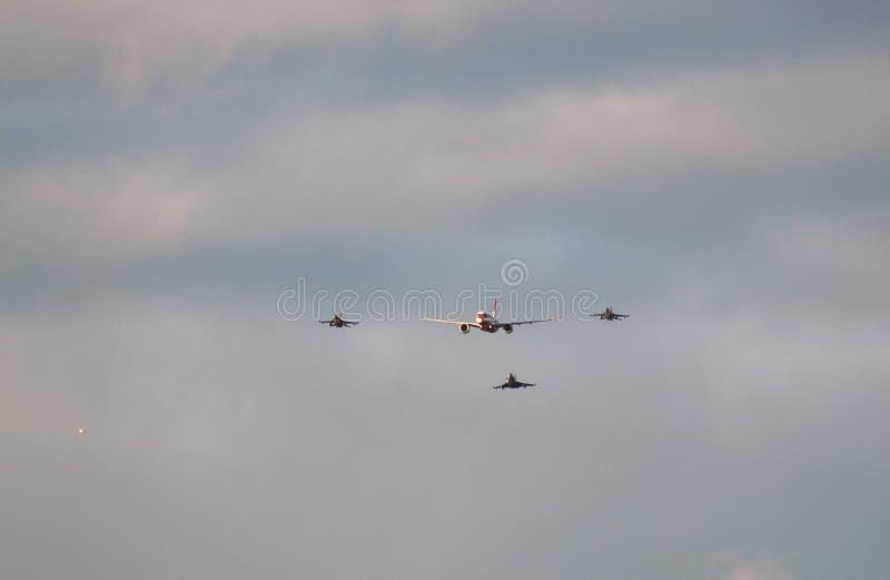 Aviões que participam na parada imagem de stock royalty free