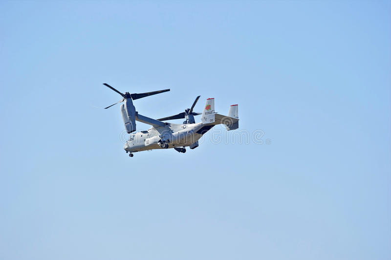 Aviões Tiltrotor da águia pescadora de Bell Boeing MV-22 foto de stock
