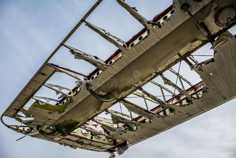Aviões velhos da asa imagens de stock