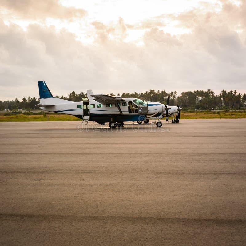 Aviões Zanzibar imagens de stock