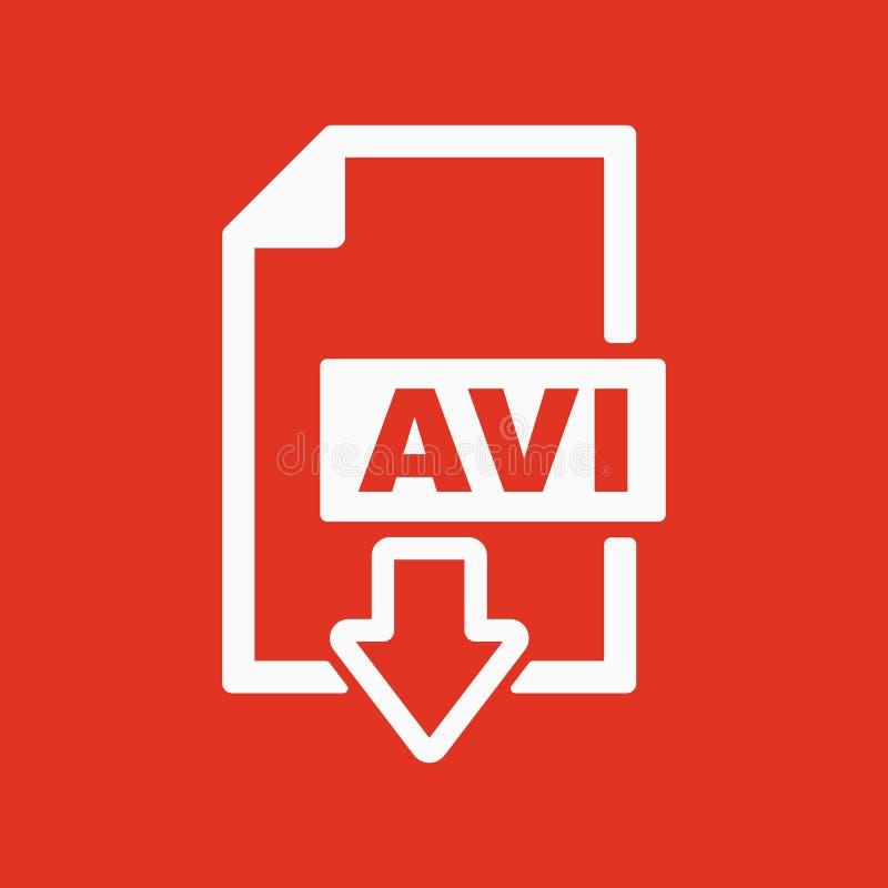 AVI象 视频文件格式标志 平面 皇族释放例证