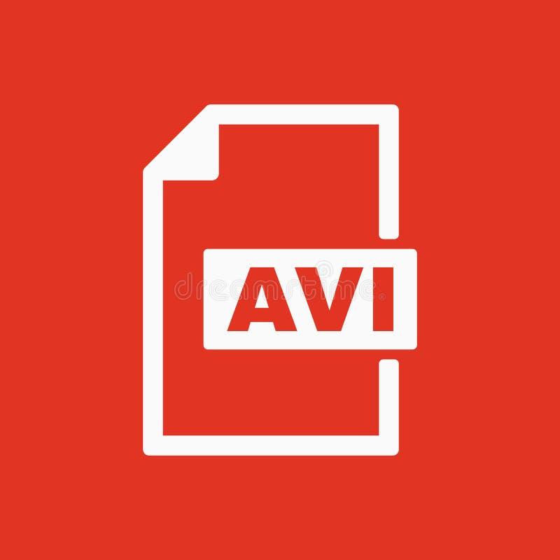 AVI象 视频文件格式标志 平面 库存例证