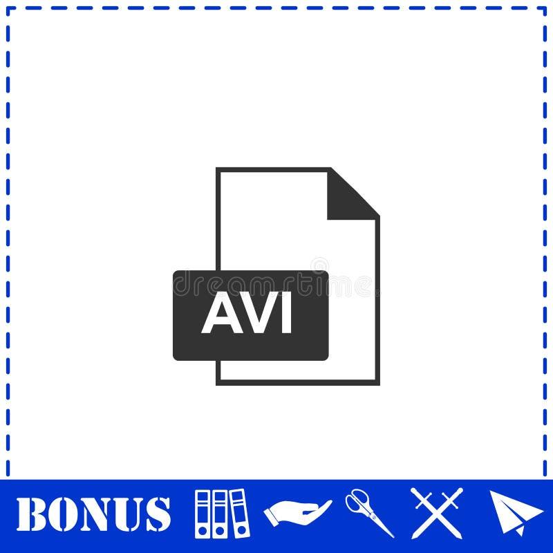AVI Icon l?genhet vektor illustrationer