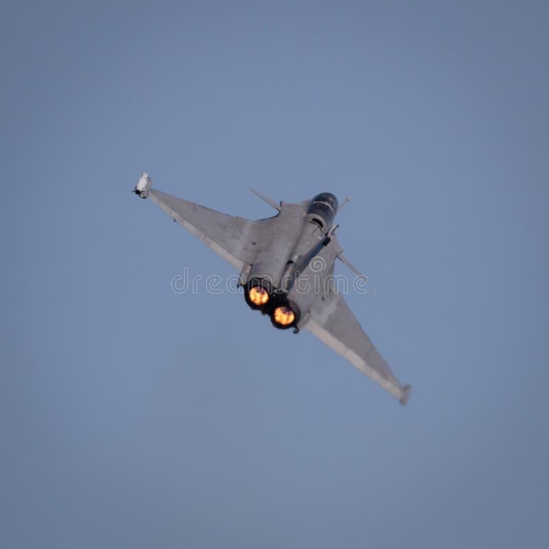 Avi?n de combate de Dassault Rafale fotografía de archivo