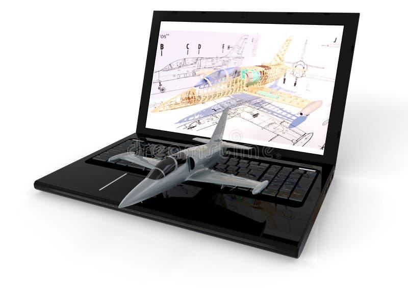 Aviação CAD ilustração royalty free