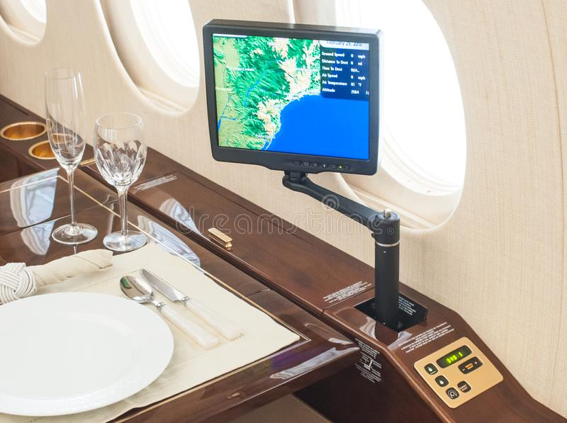 Aviação e jatos executivos da turbina do elevado desempenho dos aviões fotografia de stock royalty free