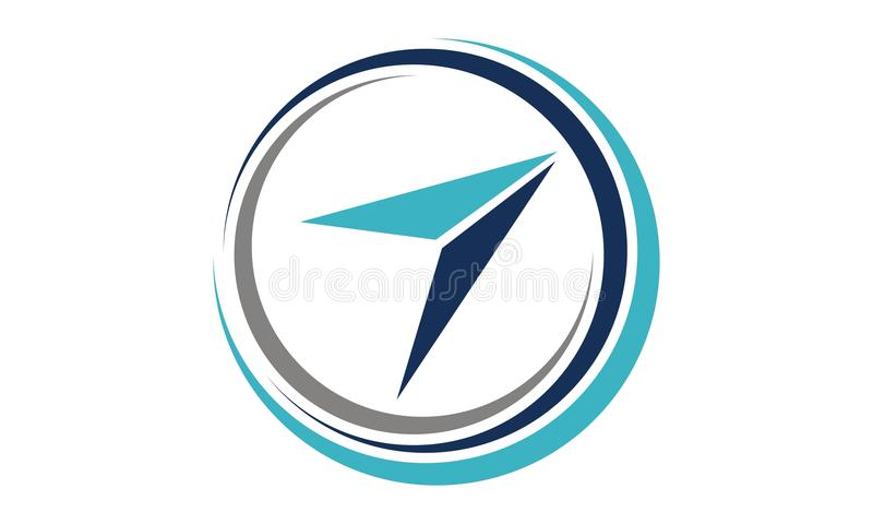 Aviação que treina Logo Design Template ilustração stock