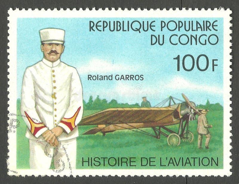Aviação Roland Garros foto de stock