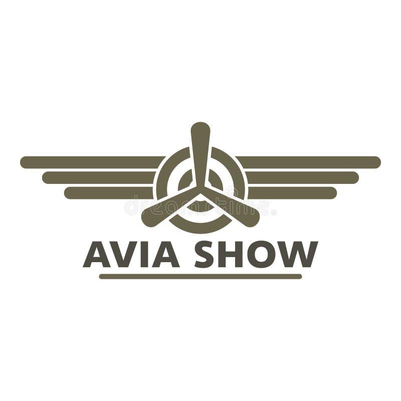 Avia展示象商标,平的样式 库存例证