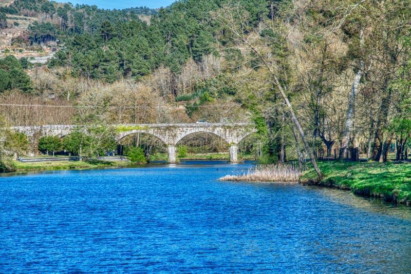 Avia-rivier Leiro stock fotografie