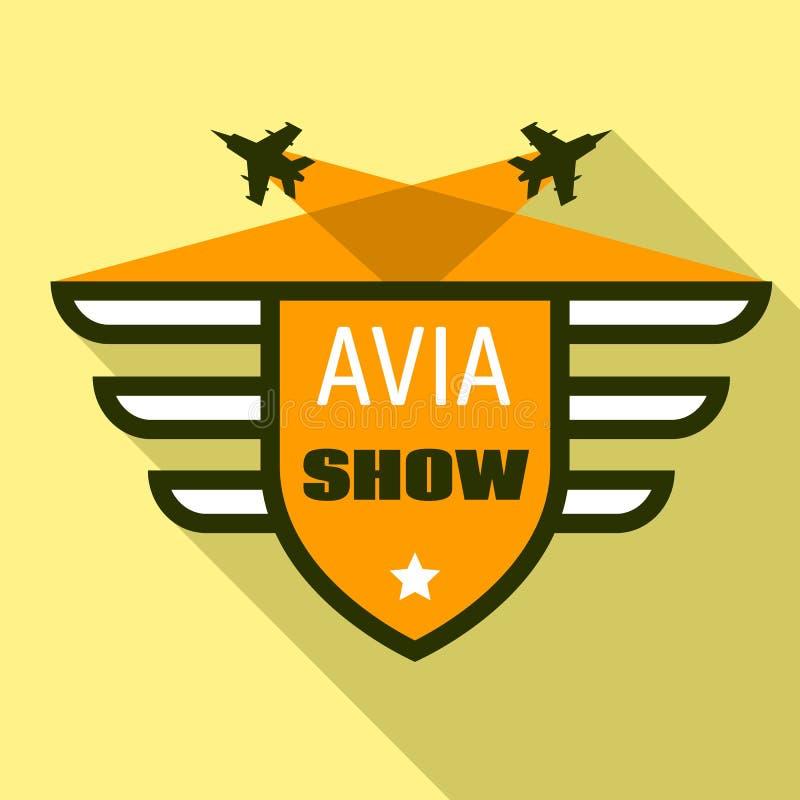 Avia showlogo, plan stil royaltyfri illustrationer
