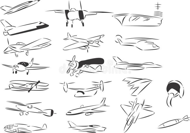 Aviación ilustración del vector