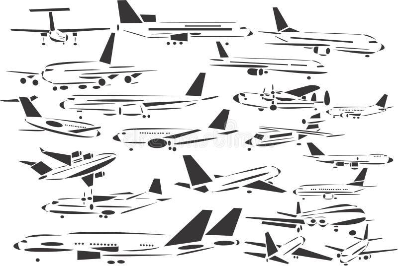 Aviación comercial stock de ilustración
