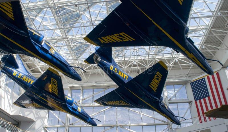Aviación naval nacional Angel Planes Museo-azul foto de archivo libre de regalías