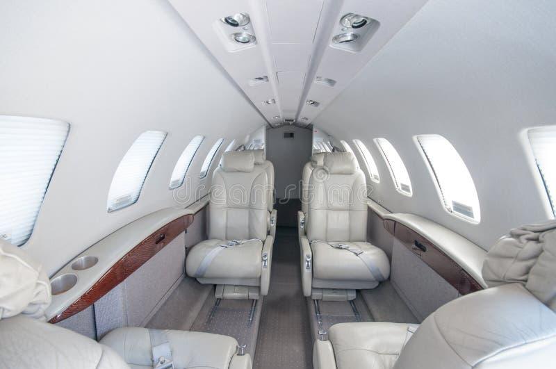 Aviación y jets ejecutivos de la turbina del alto rendimiento de los aeroplanos foto de archivo libre de regalías