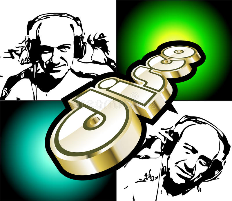 Aviador abstracto de Discoteque con DJ libre illustration