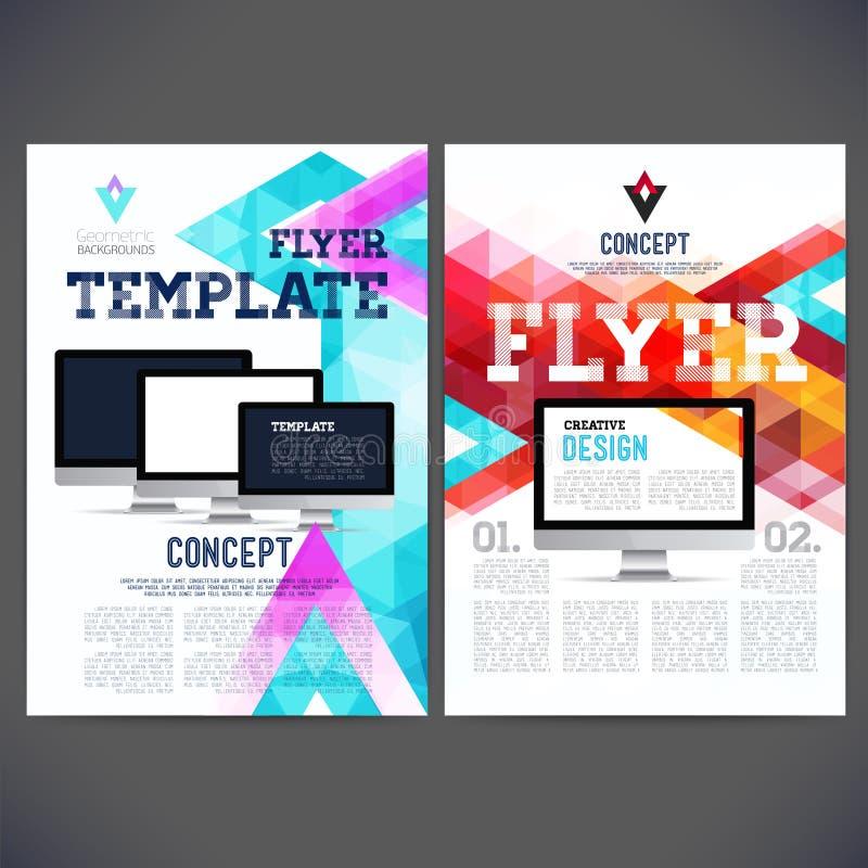 Aviador abstracto, plantillas del diseño del folleto stock de ilustración