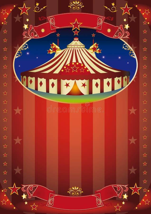Aviador de la demostración del circo ilustración del vector