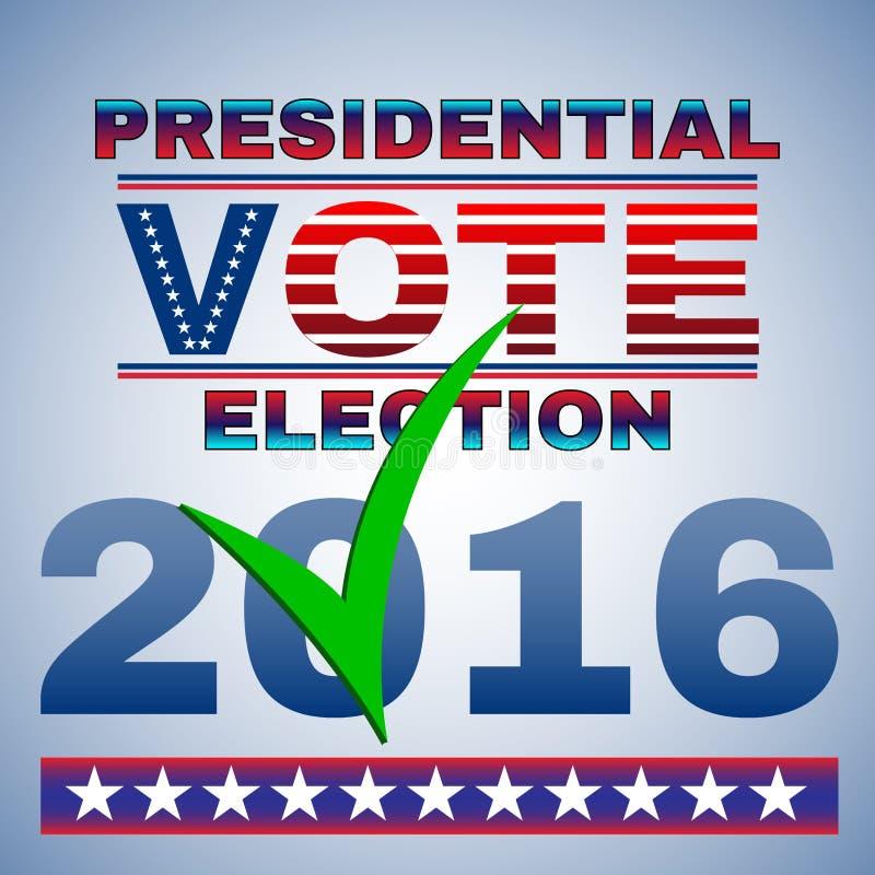 Aviador de la elección del voto presidencial stock de ilustración