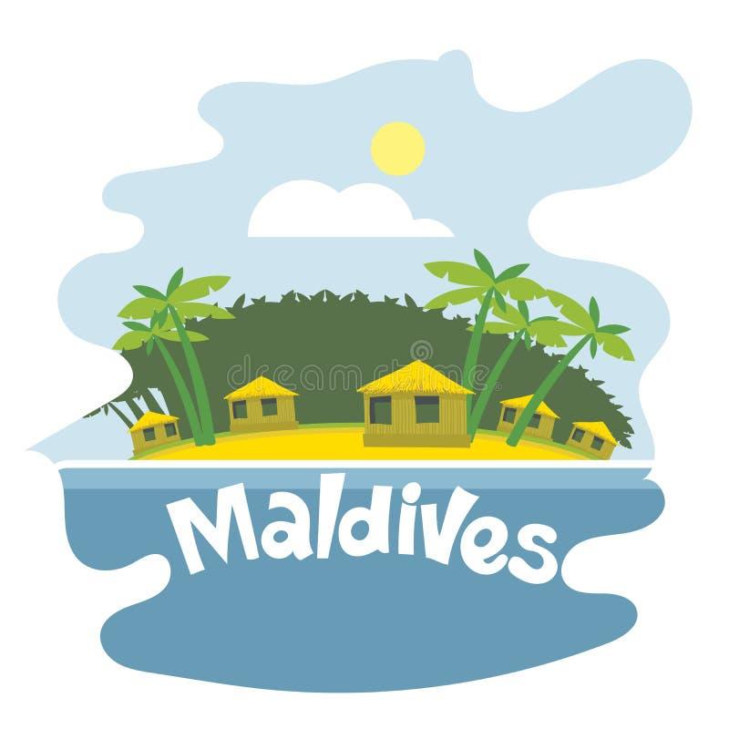Aviador de Maldivas stock de ilustración