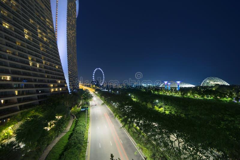 Aviador de Singapur de Marina Bay Sands imágenes de archivo libres de regalías