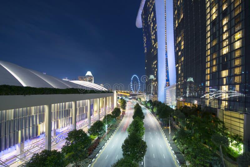 Aviador de Singapur de Marina Bay Sands Hotel imágenes de archivo libres de regalías