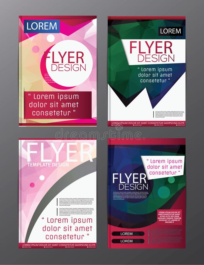 Aviador del folleto del polígono, diseño de la plantilla del folleto de la portada de revista para la presentación de la educació ilustración del vector