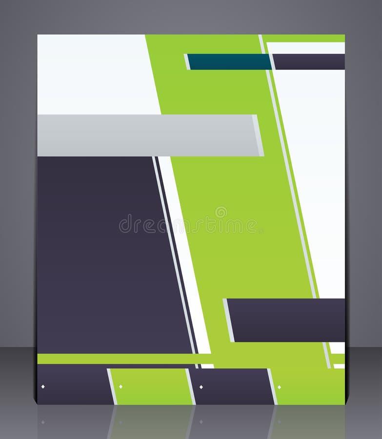 Aviador del negocio de la disposición del vector, portada de revista ilustración del vector
