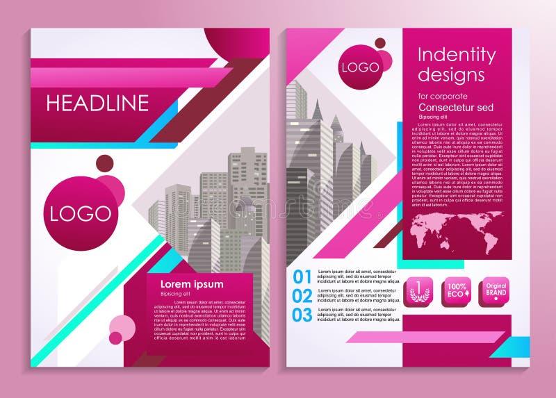Aviador del negocio o plantilla elegante del diseño de la presentación Ejemplo del vector para hacer publicidad, el promo, las pr stock de ilustración