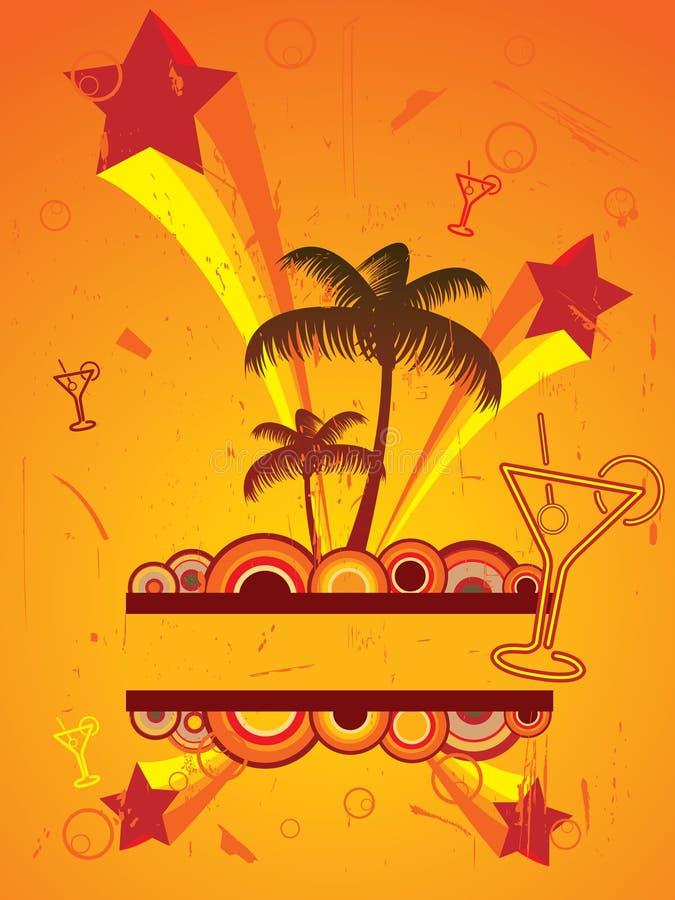 Aviador del partido de la playa ilustración del vector