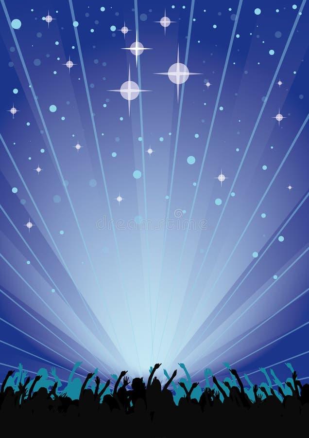 Aviador del partido del cielo azul ilustración del vector