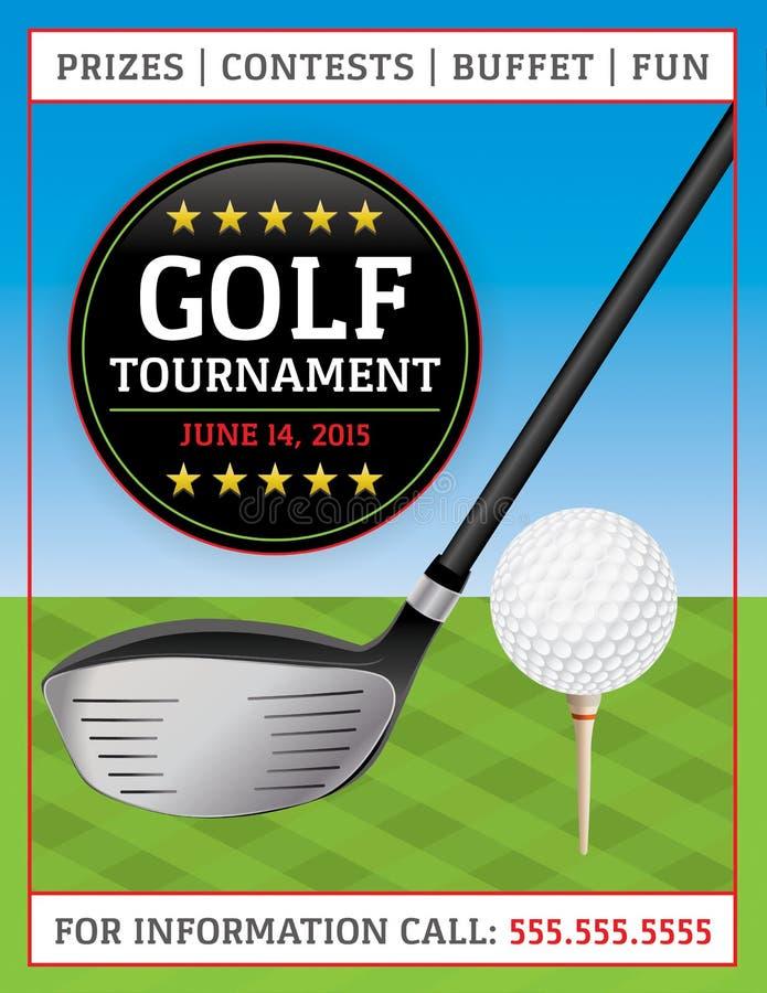 Aviador del torneo del golf libre illustration