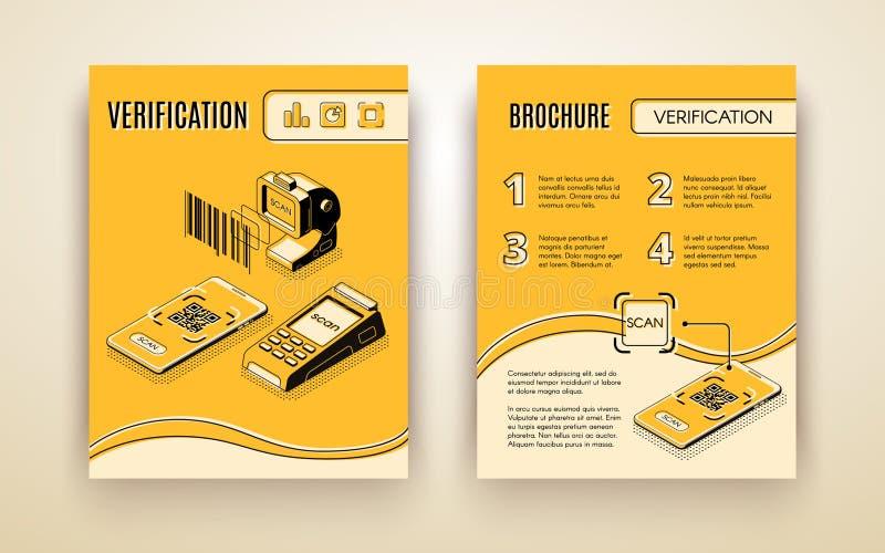 Aviador del vector de los servicios a empresas de la verificación de Digitaces ilustración del vector